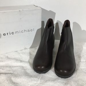 Eric Michael Jasper Brown Leather Booties - 10